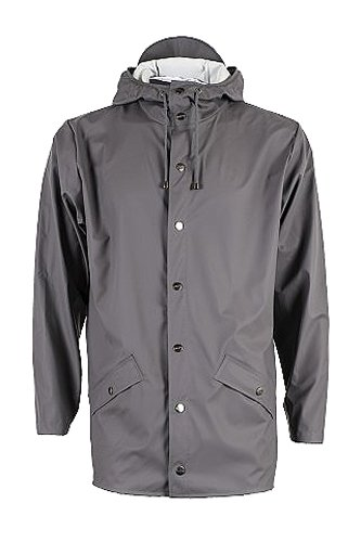RAINS Herren Regenmantel, Jacket, Gr. Medium (Herstellergröße: S/M), Grau - Grey (Smoke)