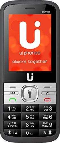 Ui Phones 1000mAh Dual SIM Phone With Camera/LED Torch/FM/Bluetooth Support (Black & Blue)