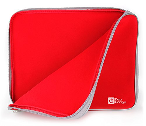 DURAGADGET Red Water Resistant Neoprene Laptop Case Compatible with the Medion Akoya S6219 (MD 60808) - by