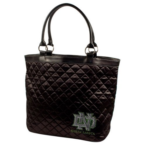 ncaa-north-dakota-fighting-sioux-sport-noir-quilted-tote-bag-black-by-littlearth
