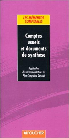 Comptes usuels et documents de synthèse par Collectif