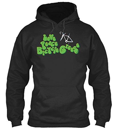Bequemer Hoodie Damen / Herren / Unisex von Teespring | Originelles Outfit für jeden Anlass und lustige Geschenksidee - Liebe - Friede - Fahrrad - Schmierfett