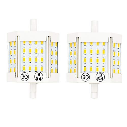 Lustaled R7s LED Lampe 78mm Kaltweiß 6000K 1100 Lumen 220V J78 R7s led Lampe Ersatz für 100W Halogen-Birne (2-Stück nicht dimmbar)