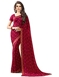 Bhankhariya Women's Georgette Printed Sarees For Women Latest Design 2018 With Blouse Piece (A20pink-SAREE15#...