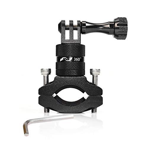 Elviray Sport Action Kamera Halter Fahrradständer Halter Cam Mount 360 ° Rotation Aluminium Lenkerhalter für Go Pro Hero (Pro Cam Steady Go)