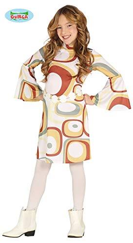 Disco Retro Kostüm - Generique - Retro Disco-Kostüm für Mädchen 60er und 70er-Jahre bunt 140/146 (10-12 Jahre)