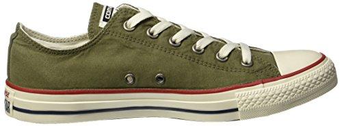 Converse Unisex-Erwachsene CTAS Ox Medium Olive/Garnet/Egret Sneaker Mehrfarbig (Medium Olive/Garnet/Egret)
