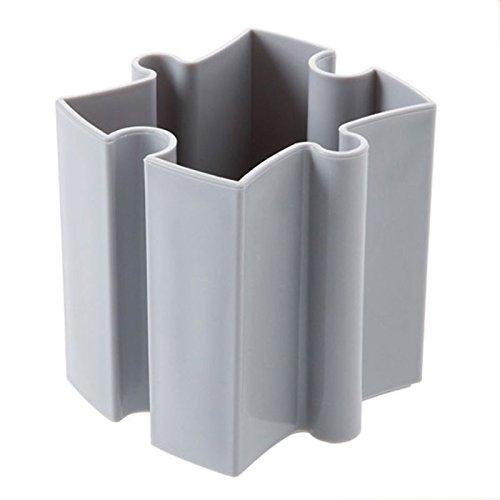 Tonpot Zusammenbaubares Schreibtisch-Aufbewahrungsregal aus Kunststoff Multifunktions-Organizer für kleine Objekte für Schmuck Make-up, Plastik, hellgrau, 8x9x10cm
