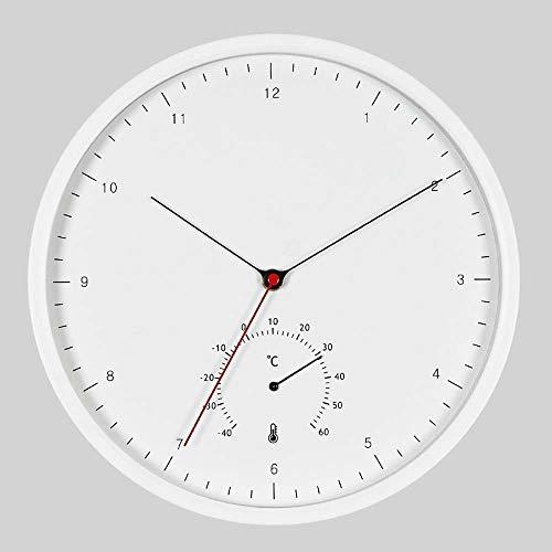 ETH Reloj De Pared Digital De Metal Creativo Redondo Termómetro Multifunción Barrido...