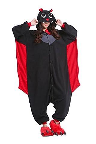 DarkCom Unisexe Adulte Une Pièce Pyjama Fantaisie Cosplay De Vêtements De Bande Dessinée De La Combi Loungewear Bat