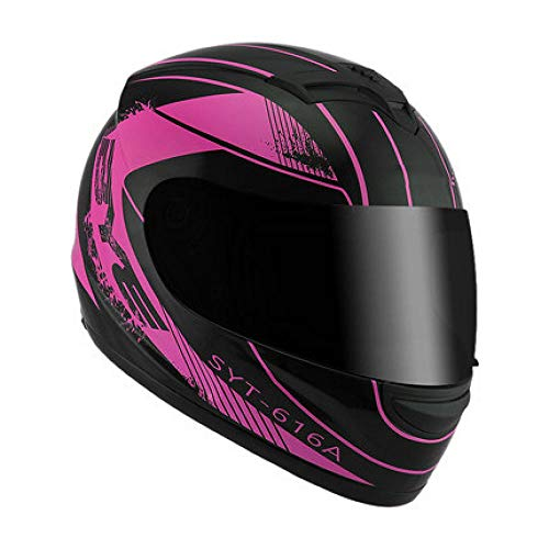 NIGHT WALL Motorbike Crash Modular Helm,Elektrohelm Integralhelm,Winterwarm- und Kaltreithelm-Schwarz-Lila,für sicheres Radfahren im Freien