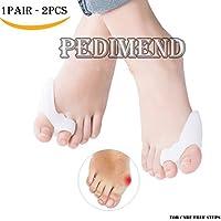 Preisvergleich für Pedimend Silikon-Zehenspreizer für zwei Zehen (1 Paar), zur Behandlung von Hallux Valgus und Hammerzehen, vermeidet...