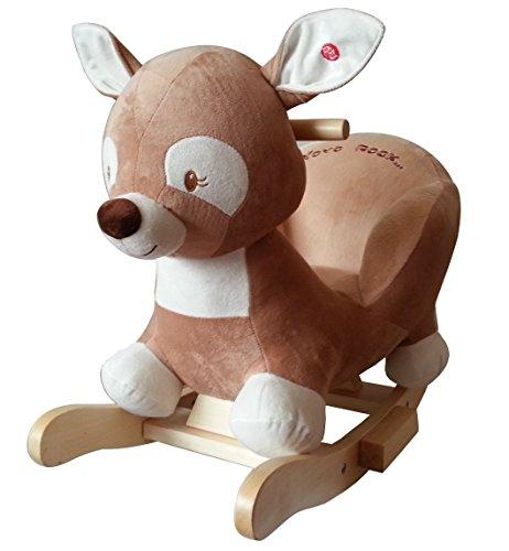 """Schaukeltier Schaukelpferd Reh """"Doris the deer """" supersüss,sehr hochwertige Ausführung mit Funktion Lullaby Lied"""