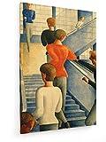 Oskar Schlemmer - Bauhaustreppe - 1932-50x75 cm - Leinwandbild auf Keilrahmen - Wand-Bild - Kunst, Gemälde, Foto, Bild auf Leinwand - Alte Meister/Museum