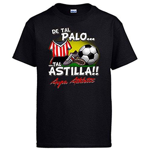 Diver Camisetas Camiseta De Tal Palo Tal Astilla Athletic fútbol Bilbao - Negro, XXL