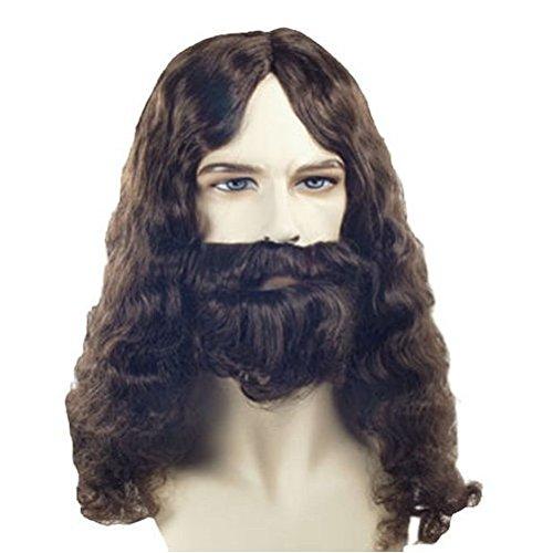 Jesus Christ Perücke und Bart Bibel Apostle Schnurrbart Erwachsene Kostüm-Set Forest (Bibel Für Kostüme Erwachsene)