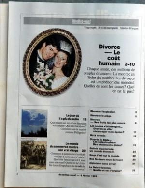 REVEILLEZ VOUS du 08-02-1992 DIVORCE - LE COUT HUMAIN - LE JOUR OU IL A PLU DU SABLE - LE MONDE DU COMMERCE MONTRE SON VRAI VISAGE - DIVORCE L'EXPLOSION - DIVORCE LE PIEGE - DIVORCE - SES FRUITS LES PLUS AMERS - LES JEUNES S'INTERROGENT DEVRAIS-JE ALLER ENCOURAGER MON EQUIPE - MOTS CROISES - D'APRES LA BIBLE LES CATASTROPHES DES CHATIMENTS DIVINS - GUINEE EQUATORIALE UN MONDE ETONNANT - COUP D'OEIL SUR LE MONDE - NOS LECTEURS NOUS ECRIVENT - ALPINISME SANS EFFORT - LA SAINT-VALENTIN - QUELLE... par Collectif