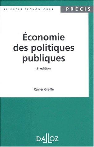 Economie des politiques publiques, 2e é...