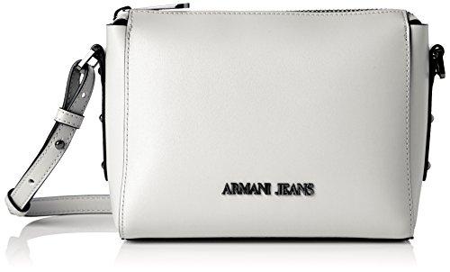 Armani Jeans  9221767p757, Cartables femme - blanc - Weiß (BIANCO 00010), 9x16x21 cm (B x H x T)