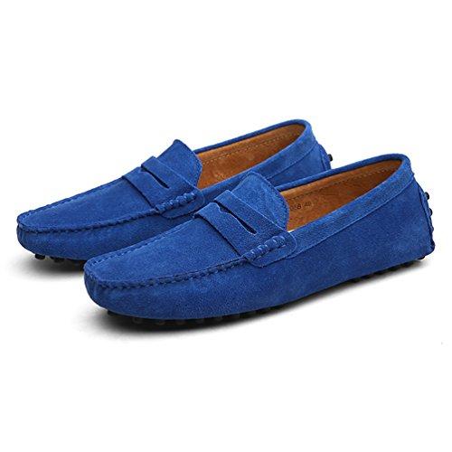 Baymate Hommes Confort Conduire Voiture Glisser Sur Loafers Appartements Saphir