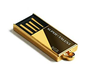 Supertalent Pico-C 8GB Flash Speicherstick USB 2.0 gold