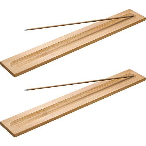 5 Stücke Bambus Holz Räucherstäbchen Halter Weihrauch Brenner Asche Fänger, 9,06 Zoll Lang (Holz Farbe)