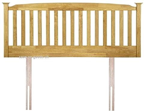 3ft single,4ft,4ft6 double ,5ft king,6ft white,oak headboard bed head end board.Solid wood wooden (4FT6 DOUBLE, HONEY OAK)