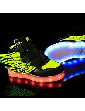 Luz LED Aemember hasta los zapatos, los muchachos' zapatos atléticos casual / Sneakers sintético negro / azul...