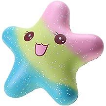 VLAMPO Squishy Stress Giocattoli Squishies Soft Slow Rising Squeezing Starfish 5.5 '' (rainbow)