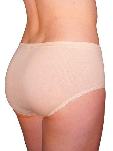 3er Pack Damen Slips Nr. 205 (Schlüpfer, Unterhose) (Hautfarben) Hautfarben