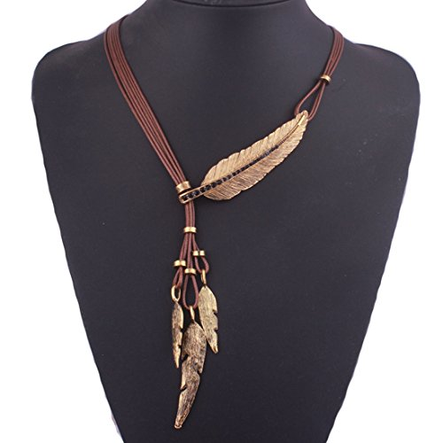 Tpocean Frauen Bohemian Halsband Stil Bronze Seil Kette -