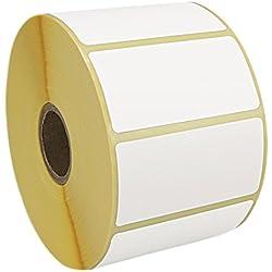 térmica directa etiquetas, etiquetas autoadhesivas para impresora térmica, 60x 30mm, 1pulgadas de núcleo