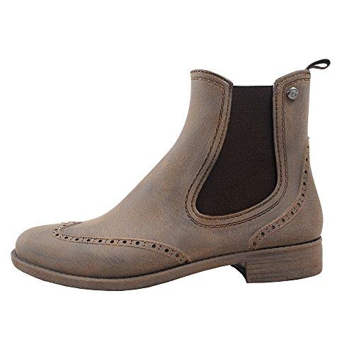 Bockstiegel Chelsea B - Stivali in gomma con ottica in pelle l colori differenti l numeri di scarpe 36-41 Marrone