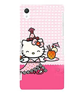 EPICCASE Cuty Kitty Mobile Back Case Cover For Sony Xperia Z2 (Designer Case)