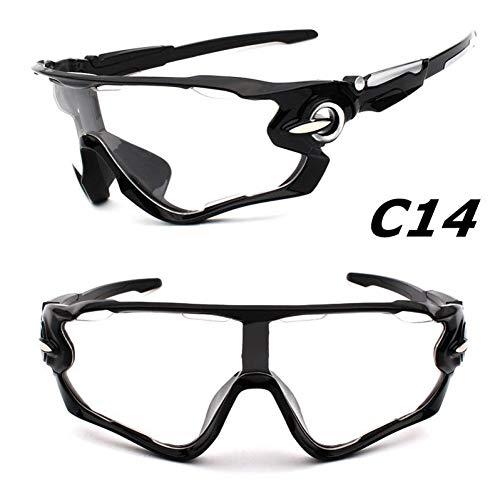 ZKAMUYLC SonnenbrilleNeue Design Großen Rahmen Bunte Linse Sonnenbrillen Outdoor Sports Radfahren Fahrradbrillen Motorrad Eyewear Fahrrad Sonnenbrille