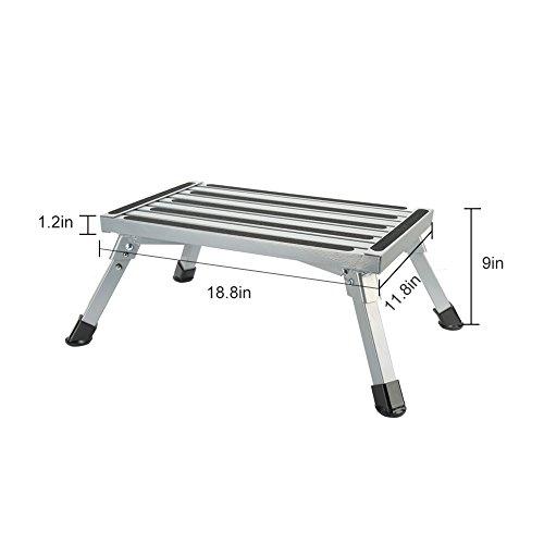 Sgabelli Pieghevoli Alluminio.Gradini Per Camper Pieghevoli Alluminio Sgabello Poggiapiedi