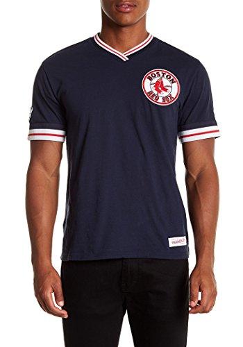 Mitchell & Ness Herren Boston Red Sox MLB Overtime Win Vintage Tee 2.0, Herren, Navy, XLarge -