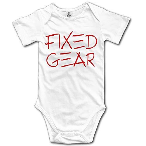 Kostüm Gear Galaxy - TKMSH Classic Fixed Gear Boy's & Girl's Short Sleeve Baby Climbing Clothes White