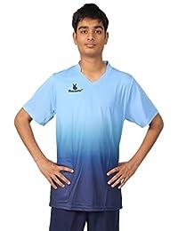 Triumph Men's Polyester Soccer Sky Blue V Neck Uniform
