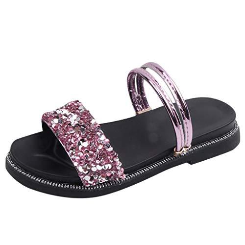 Iowa Mädchen (Dtuta Kinderschuhe MäDchen Schuhe Sommer Strass Zwei Tragende Prinzessin Schuhe Sandalen Pantoffeln RöMische Schuhe Offene Zehen Mode Weich Und Bequem)
