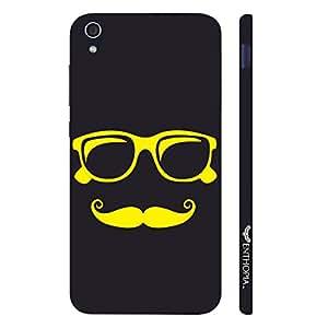 Lenovo S 850 Yellow Moustache designer mobile hard shell case by Enthopia