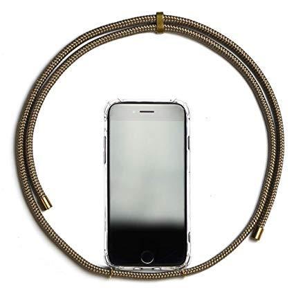 Necklace für Handy - KNOK case Smartphone Hülle Handykette - iPhone Samsung Hülle (iPhone 6, Gold)
