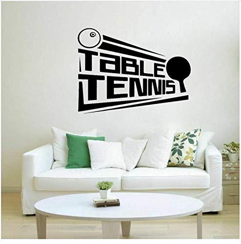 Tatuajes de tenis de mesa calcomanías tenis de mesa decoración de deportes de PVC pegatinas de pared...