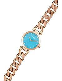 Reloj mujer Louis Villiers reloj 33 mm en steel azul y pulsera dorado en Metal al2927 – 08