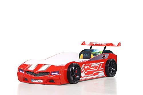 Bumer SPX - Lettino per auto con fanale LED, colore: rosso