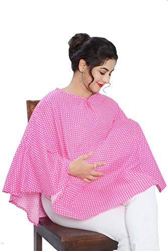 Mum's Caress Nursing Covers/Feeding Cover/Maternity Top/Baby Cover - Pink Polka
