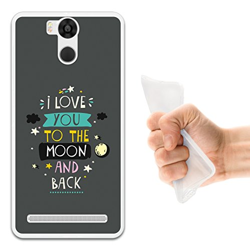 WoowCase Ulefone Power Hülle, Handyhülle Silikon für [ Ulefone Power ] Satz - I Love You to The Moon and Back 2 Handytasche Handy Cover Case Schutzhülle Flexible TPU - Transparent