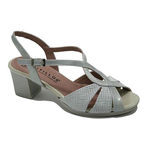 PITILLOS, Sandali donna argento Size: 38