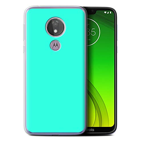 eSwish Gel TPU Hülle/Case für Motorola Moto G7 Power/Türkis Muster/Farben Kollektion - Power Gel Case