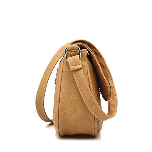 Damen Umhängetasche Mode Retro Messenger Bag Maroon